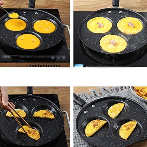 TCNBV Maifan Pierre Frying Pan - antiadhésive, 3 trous Omelette Pot, Accueil Batterie de cuisine, Outils de cuisine for Omelette