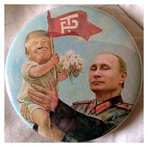 "2.25"" Anti Trump for President 2016 Vladimir Putin Baby Donald Pinback Button New President"