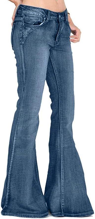 Pantalones Mujer Vaqueros Pantalones Vaqueros Acampanados Con Botones Acampanados Para Mujer Pantalones Acampanados Con Botones De Campana Amazon Es Ropa Y Accesorios
