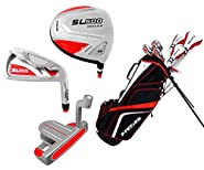 Precise Women's SL500 Petite Complete Set (Red/White), Graphite Hybrids with Graphite Irons, Ladies, Right Hand