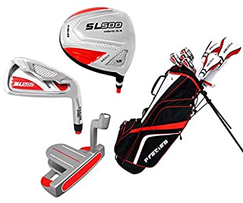 Precise Women s SL500 Petite Complete Set Red White , Graphite Hybrids with Graphite Irons, Ladies, Right Hand