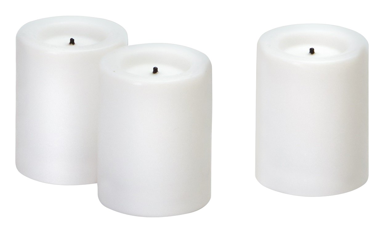 Sterno 1.75'' White Real Wax Votive-50 Products 60172 Flameless Mini Votive, 50 Piece