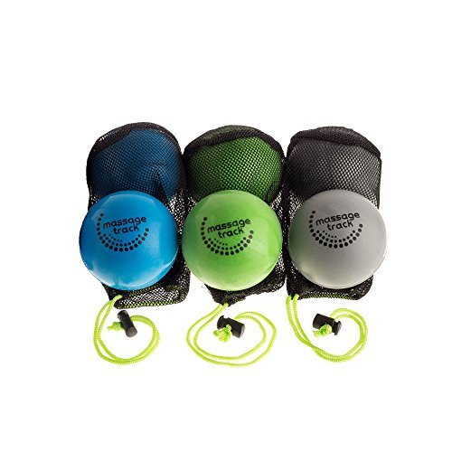 6 Deep Tissue Massage Ball Set for Myofascial Release, Yoga, Physical Therapy by Deep Recovery