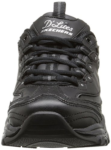 Women Silver US Sneaker Foam 9 up Lace Black Memory Skechers W 5 D'Lites Sport 410Oc0z5