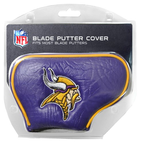 (Team Golf NFL Minnesota Vikings Golf Club Blade Putter Headcover, Fits Most Blade Putters, Scotty Cameron, Taylormade, Odyssey, Titleist, Ping, Callaway)