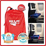 Fun N' Fly Foldable Travel Tray - Blue Red Portable Durable Kids, Toddler, Baby Play Space and Snack Desk for Airplane Travel by FunnFly