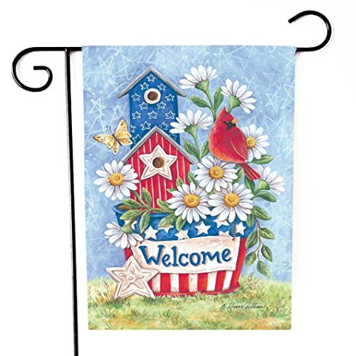 Dtzzou Flowers Welcome Garden Flag 12 x 18 Vertical Outdoor & Indoor Decorative Double Sided Flag for Spring Summer Farm House Decoration