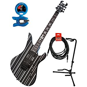 schecter 28 synyster gates standard electric guitar w guitar stand tuner and 18 6. Black Bedroom Furniture Sets. Home Design Ideas