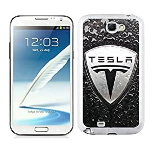 Personalized Case tesla logo 4 For Case Iphone 4/4S Cover in White
