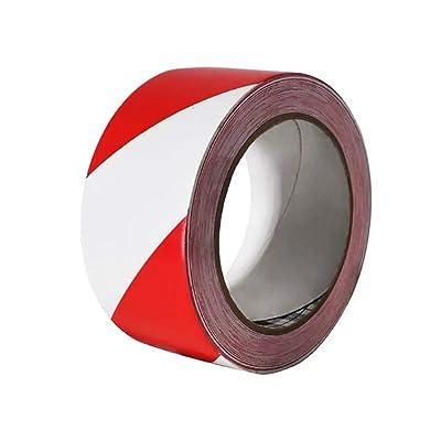 "PerfecTech Reflective Tape 2"" x 150' Traffic Reflective Safety Warning Tape Stickers Stripe Waterproof (Red-White): Automotive"
