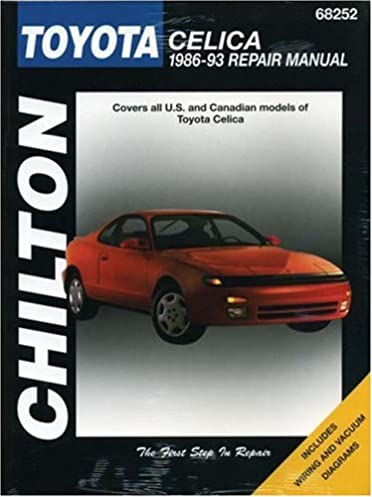 toyota celica 1986 93 chilton total car care series manuals rh amazon com