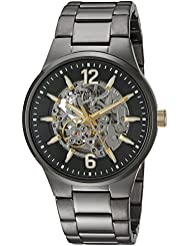 Caravelle New York Mens Automatic Stainless Steel Casual Watch, Color:Grey (Model: 45A137)