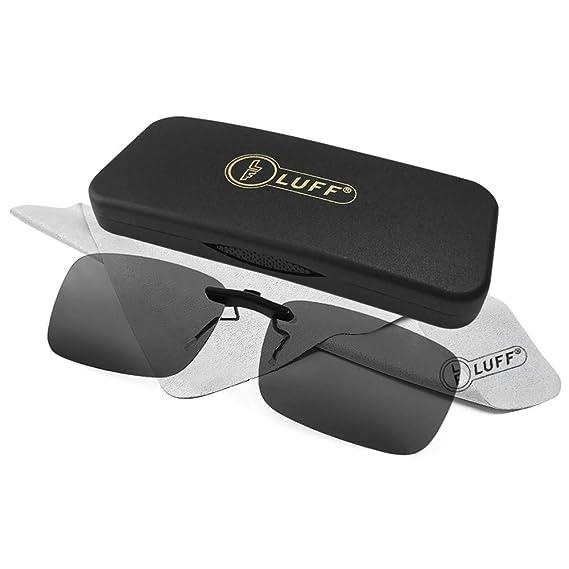 fa7bd8e1d9 Clip polarizado unisex en gafas de sol para anteojos recetados-Buenas gafas  de sol estilo