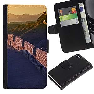 Ihec-Tech / Flip PU Cuero Cover Case para Apple Iphone 4 / 4S - Nature Beautiful Forrest Green 33