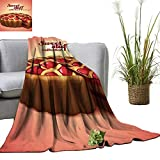 "YOYI Single-Sided Blanket Classic Cherry Pie for Bed & Couch Sofa Easy Care 60""x70"""