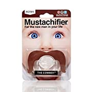 Hipsterkid Cowboy Mustachifier - 0-6 Months Baby Orthodontic Mustache Pacifier - BPA Free (Brown)