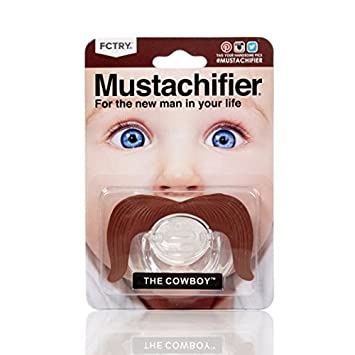 Stachifier Cowboy - Chupete con bigote de vaquero