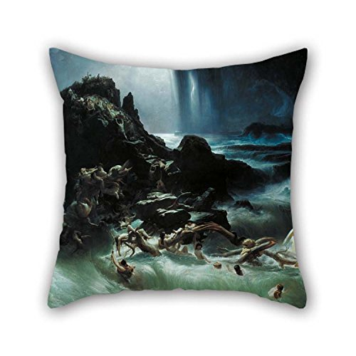 beeyoo 16 X 16 inches / 40 by 40 cm Oil Painting Francis Danby - The Deluge Pillowcover Twin Sides is Fit for Festival Lounge Living Room Girls Kids Lounge