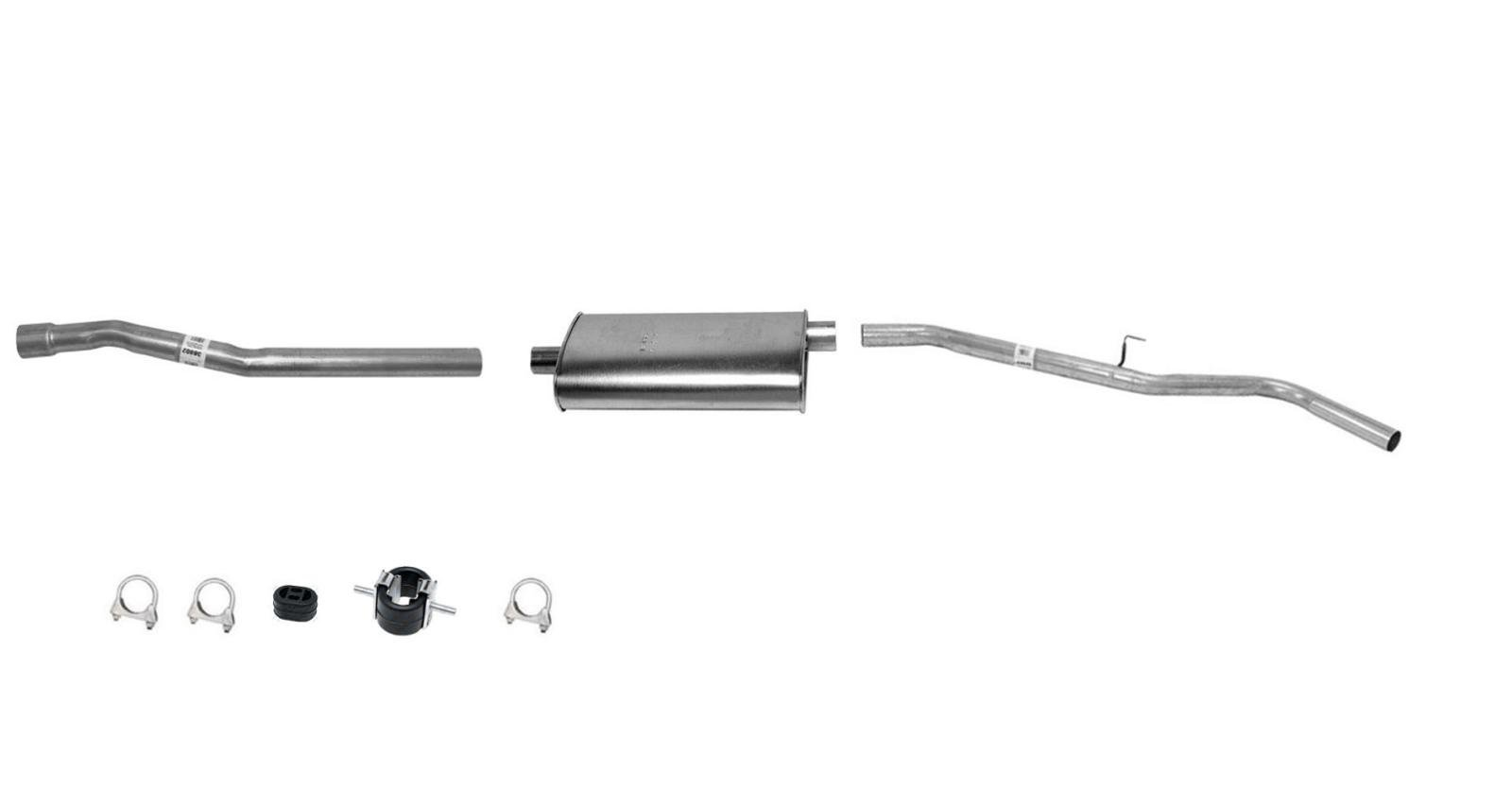 Mac Auto Parts 40143 Frontier 3.3 Muffler Exhaust Pipe System 1 W/B Long Bed Inc Crew Cab