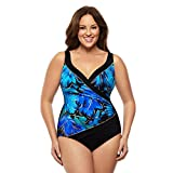 Longitude Floral Flutter Crossover One-Piece Swimsuit