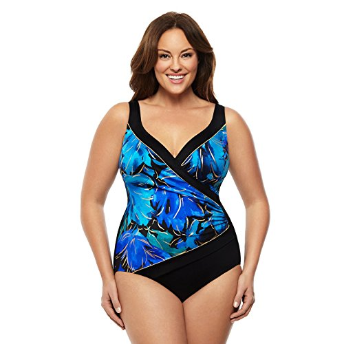 Longitude Floral Flutter Crossover One-Piece Swimsuit by Longitude
