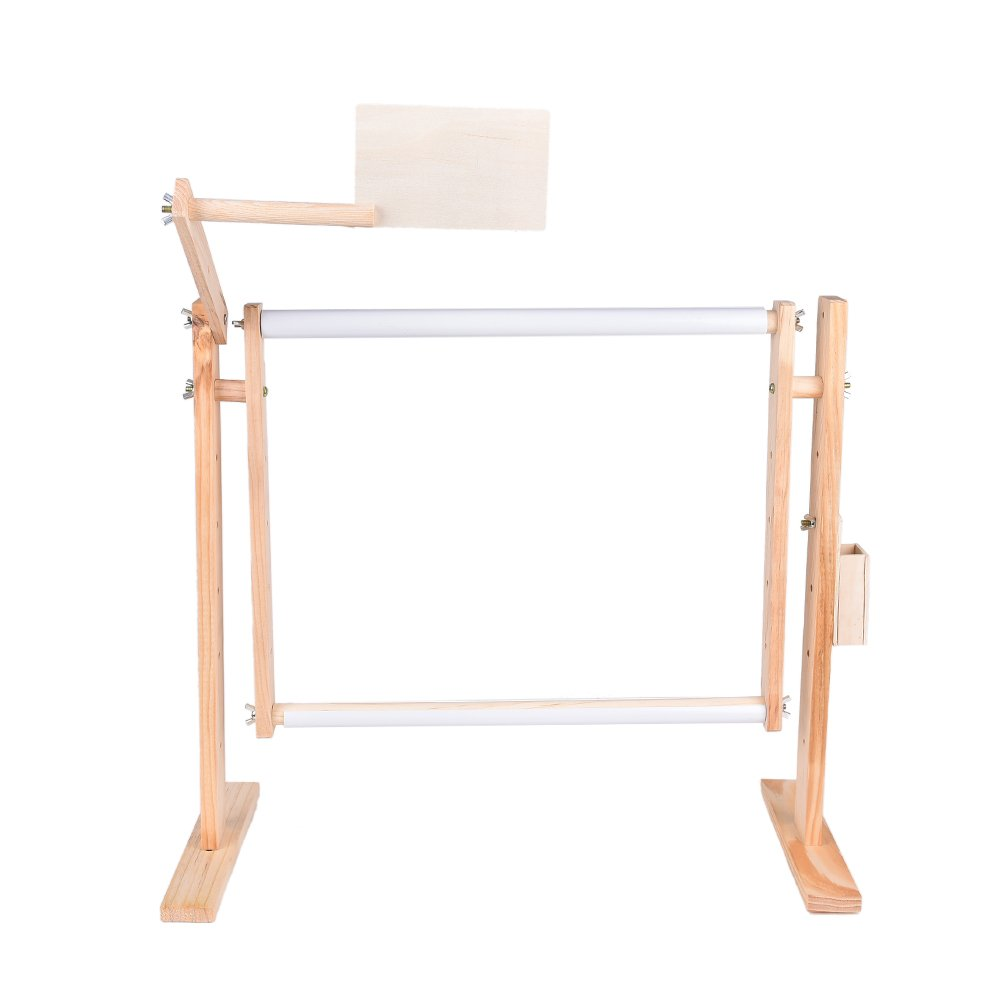 Needlework Stand Wood Embroidery Hoop Frame Cross Stitch Lap Table Craft Sewing Tool 4U-Lucky