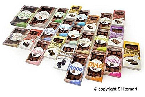 SCG13 Molde de silicona para el chocolate con 15 cavidades con forma de rosas, color marrón: Amazon.es: Hogar