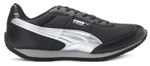 f107989b536c59 Puma Men s Speeder Tetron II Ind. Black-Puma Silver Running Shoes - 11 UK