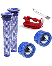 2 Pack Pre-Filters & 2 Pack Post-Filters Replacement Set Compatible with Dyson V6 Absolute,V6 Mattress Cordless Stick Vacuum Cleaner