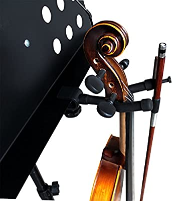 Vizcaya VLH20 Violin Hanger With Bow Holder for Music Stand/Microphone Stand by JUNHAO