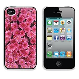 Bunches of Magenta Mums Flower Apple iPhone 4 / 4S Snap Cover Case Premium Aluminium Customized Made to Order Support Ready 4 7/16 inch (112mm) x 2 3/8 inch (60mm) x 7/16 inch (11mm) Liil iPhone_4 4S Professional Cases Touch Accessories Graphic Covers Designed Model Folio Sleeve HD Template Wallpaper Photo Jacket Wifi 16gb 32gb 64gb Luxury Protector Wireless Cellphone Cell Phone