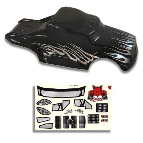 Redcat Racing Semi Truck Body, 1/10 Scale, Black/Silver