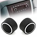 2 Pack Rear Radio Audio Volume Control Knob,Volume Control Button For 07-13 Chevy Tahoe Chevrolet Silverado GMC Acadia Sierra Denali Yukon GM 22912547 Dial Tuner Premium Replacement Kit