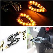 INNOGLOW Motorcycle Turn Signals Lights 12V Universal Motorbike Turn Signal Indicator Blinker Amber Light Lamp for Yamaha Honda Suzuki Kawasaki ( 2 PCS )