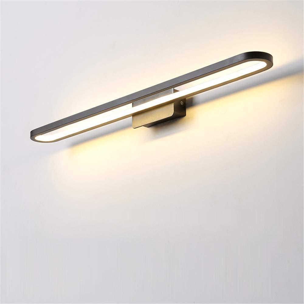 Amkoc Modern LED Spiegelleuchte Badleuchte 17w Spiegellampe 4500k neutral-wei/ß Eisen Badlampe Schranklampe Aufbauleuchte 40cm Schwarz