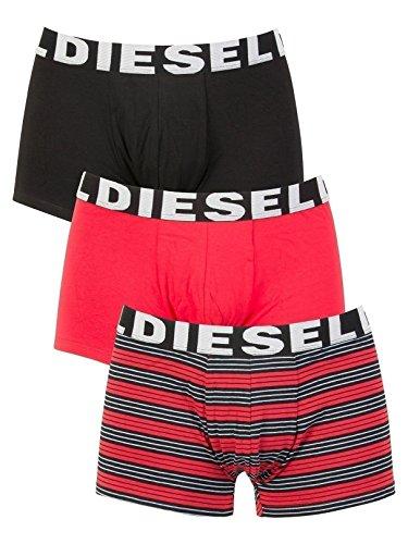 - Diesel Men's Mensshawn Three Pack Stripe, Red/Black Stripe, Small