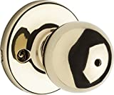 kwikset door knob brass - Kwikset Polo Bed/Bath Knob in Polished Brass