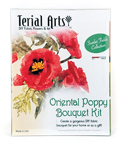 Terial Arts Poppy Fabric Flower Bouquet Kit by Terial Arts