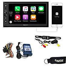 Sony XAV-AX100 Media Receiver with Bluetooth, Apple CarPlay, Android Auto, Steering Wheel Interface and Back Up Camera