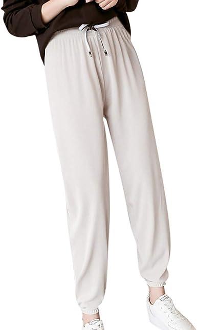 JiaMeng-ZI Pantalones Deportivos Casuales para Mujer, Pantalones ...