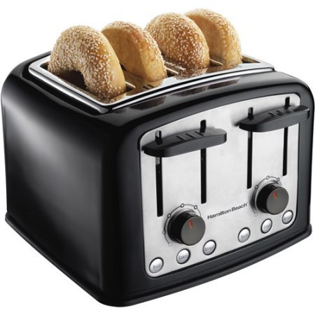 Hamilton Beach SmartToast 4-Slice Toaster, Bagel, cancel and defrost buttons
