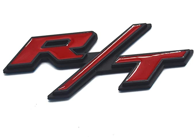 Chrome Red Aimoll 1pcs R//T RT Side Fender Trunk Hatch Deck Lid Boot Emblem Badge Sticker for Dodge Challenger Charger Ram 1500 Jeep Grand Cherokee