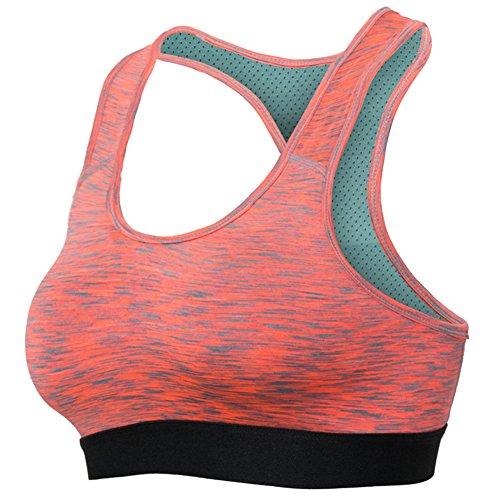 Sujetador Deportivo Mujer Gym Yoga Sujetadores Tops Bra Rojo