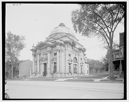 Vintography 8 x 10 Ready to Frame Pro Photo of Savings Bank Utica N Y 1908 Detriot Publishing 78a