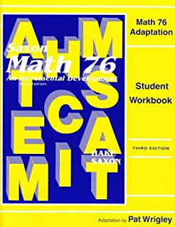 Math 87 adaptation student workbook saxon math 87 stephen saxon math 76 special populations workbook master adaptations fandeluxe Gallery