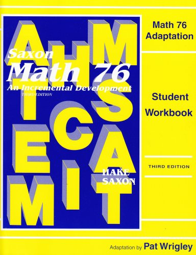 Saxon Math 7/6 Special Populations: Workbook Master Adaptations