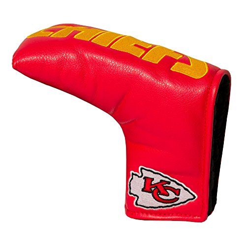Team Golf NFL Kansas City Chiefs Golf Club Vintage Blade Putter Headcover, Form Fitting Design, Fits Scotty Cameron, Taylormade, Odyssey, Titleist, Ping, Callaway