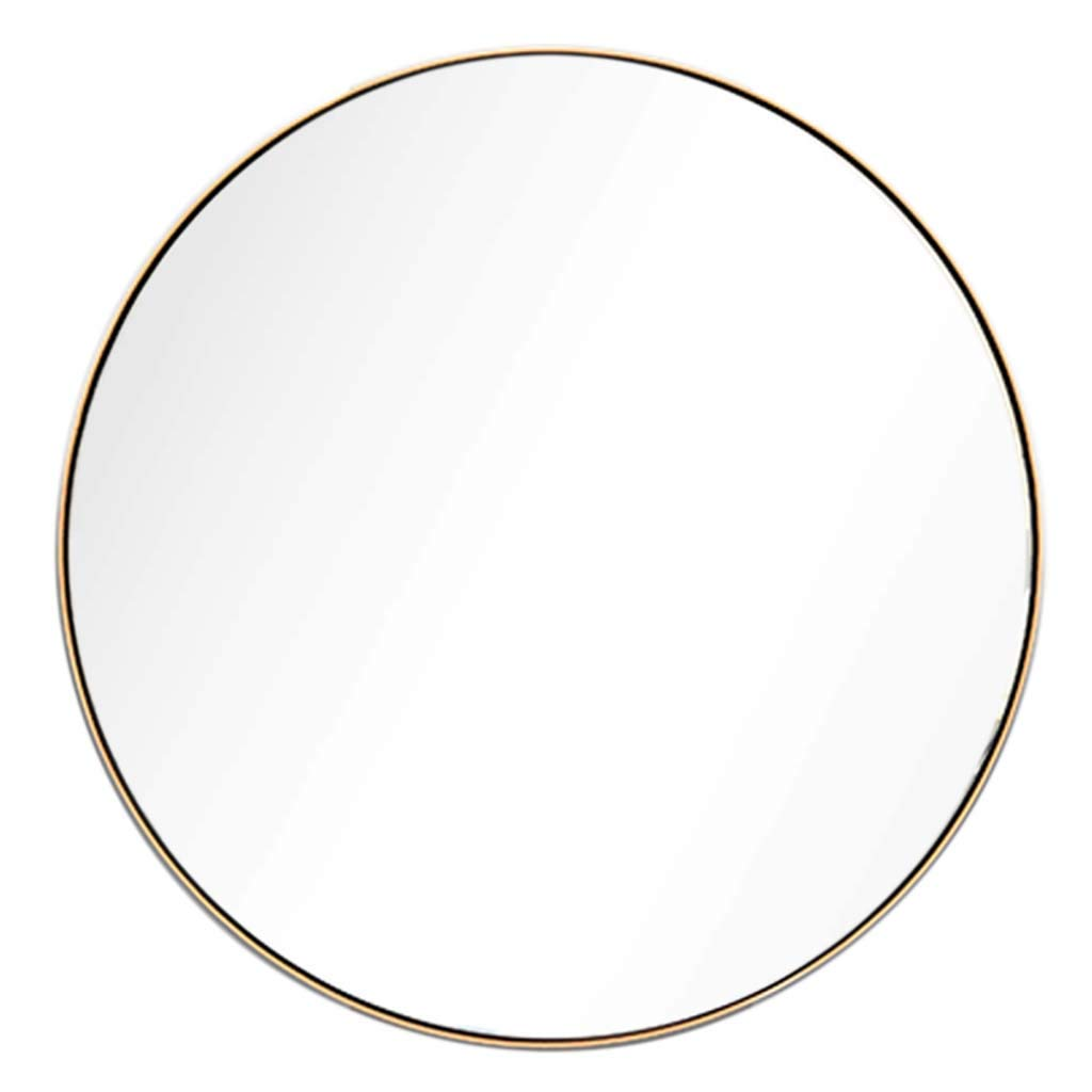 50cm Bathroom Shaving Mirror Large Concise Circle Wall Hanging Vanity Mirrors with Round Metal Frame Living Room Bedroom Hallway Home Decorative Mirror(19.7-31.5Inch)