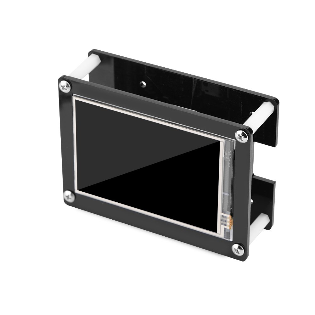 GLOGLOW 1080P IPS 60fps 3.5 inch HDMI LCD Screen Display for Raspberry Pi + Black Acrylic Case
