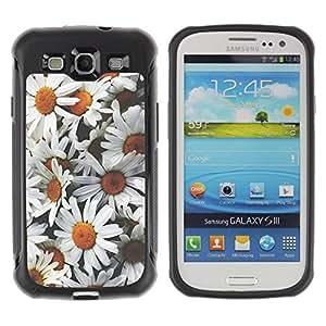 LASTONE PHONE CASE / Suave Silicona Caso Carcasa de Caucho Funda para Samsung Galaxy S3 I9300 / Daisies Flowers Sun Field Vintage